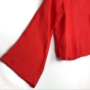 ANTONIO MELANI Tops - Antonio Melani | Linen Bell Sleeve Blouse Size XS